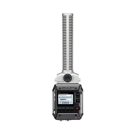 Gravador De Áudio Digital Zoom F1sp - Com Microfone Shotgun