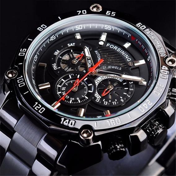 Relógio De Pulso Mecânico Forsining Multifuncional Business