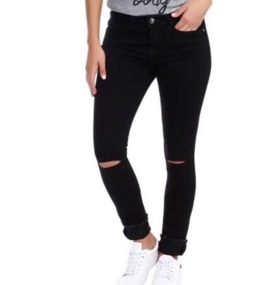 Jeans Thats It. Nuevo Talla 5 Tiro Medio/ Alto Color Negro