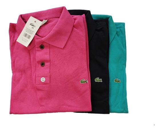 Camiseta Polo Tecido Piquet Original Promocao Kit Com 5 Pçs