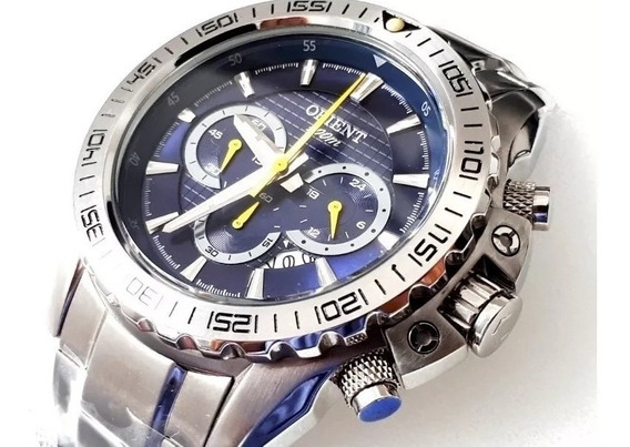 Relógio Orient Cronógrafo Mbssc103 - 100m Novo, Nf, Garantia