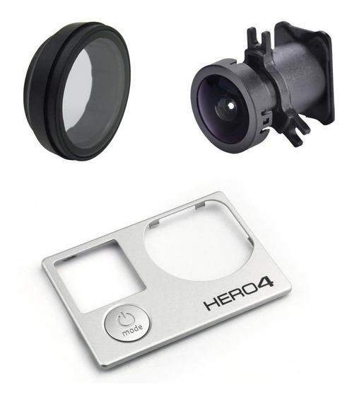 Lente Gopro Hero 4 + Faceplate + Lente Proteção Uv