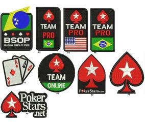 Patch Bordado Kit C/ 3 Poker On Line Net Á Sua Escolha