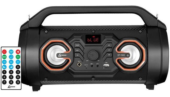 Caixa Acústica Lenoxx Speaker Bt560 Usb/sd/bt Preto Bvolt
