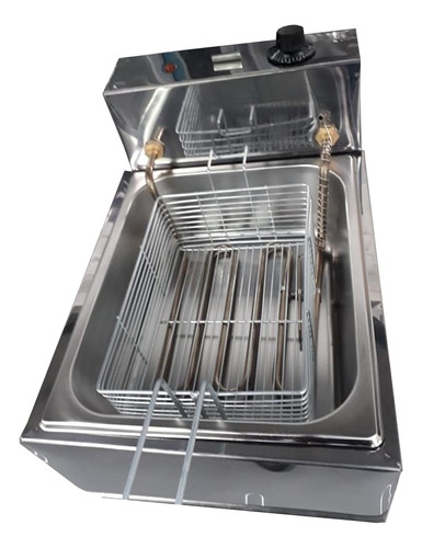 Imagem 1 de 1 de Fritadeira industrial elétrica Equipamentos Inox 5 L aço inoxidável 127V