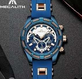 Relógio Megalith 8042m Masculinocronógrafo 100% Funcional