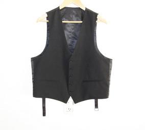 Fino Chaleco De Vestir Negro Talla 44 S