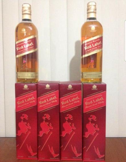 Whisky Johnnie Rojo 1lt - Caja (12unidades) 100%original