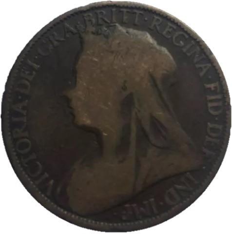 Onesmile:) One Penny 1896 British Queen Victoria