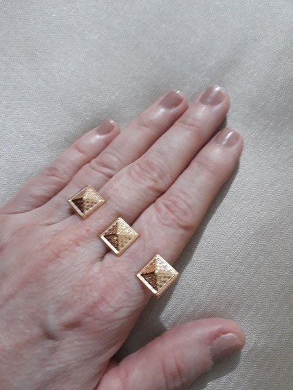 Belas Joias: Anel Em Prata E Ouro Rose Rommanel
