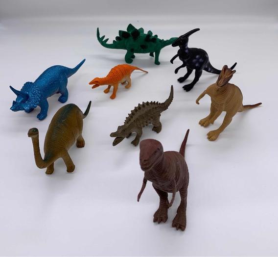Dinossauro Pacote Miniaturas Kit C/ 8 Unidades