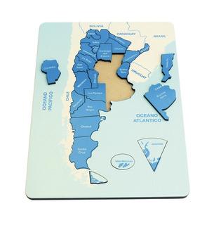 Juego Didactico Con Piezas En Madera Encastre Mapa Argentina