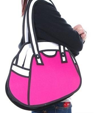 Bolso Cartera Diseño 2d 3d Cartoon Bag Handbag Importada 5