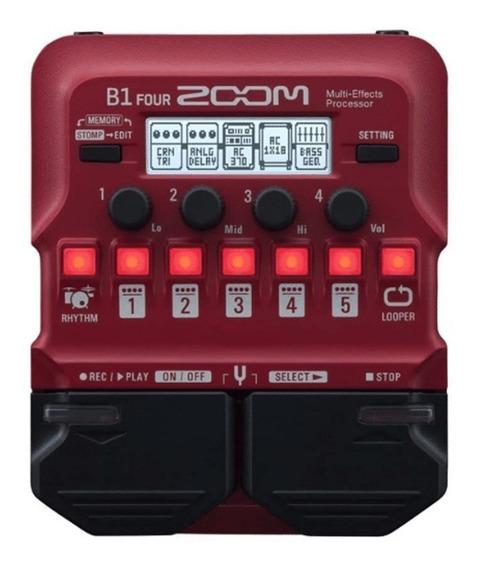 Zoom B1 Four Pedaleira Para Baixo Multi Efeitos Mercado Full