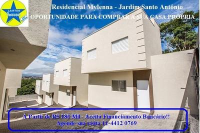 Casa Com 2 Dormitórios À Venda, 56 M² Por R$ 180 Mil - Jardim Santo Antônio - Atibaia Sp - Ca1596