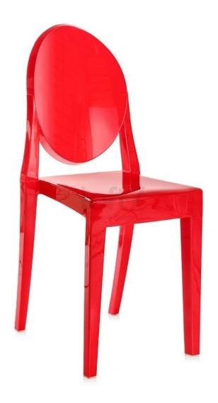 Cadeira Acrílica Transparente Incolor Miss Sofia Cores