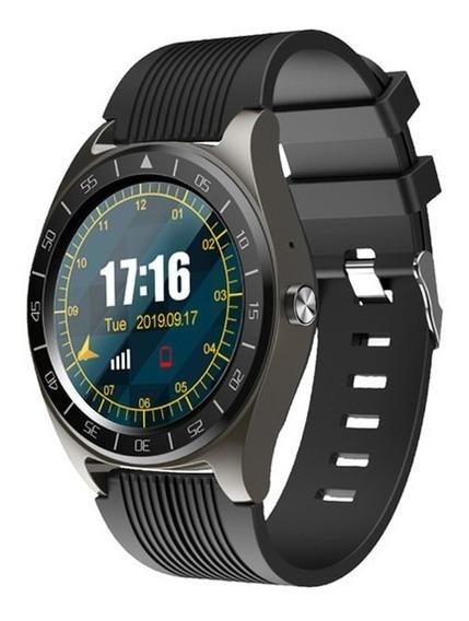 V5 Smartwatch Reloj Inteligente Redondo Sim Android Ios