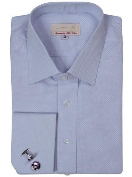 Camisa Punho Duplo Gola Francesa (ref 037)