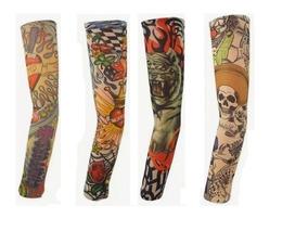 Manguitos Tatuagem False Fake Tattoo Sleeve - Kit 4 Unidades