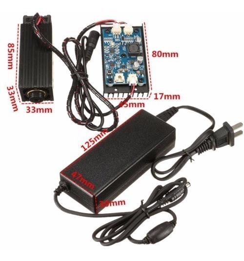 Módulo Laser Potência 15w 450nm Cncttl/pwm Adaptador De Ar