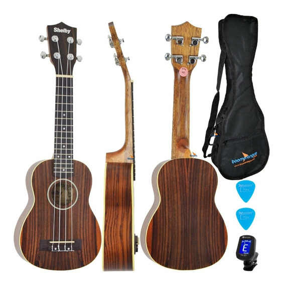 Kit Ukulele Soprano Shelby By Eagle Su21r Satin Natural Capa