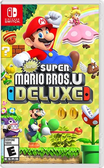 New Super Mario Bros. U Deluxe Switch Mídia Física
