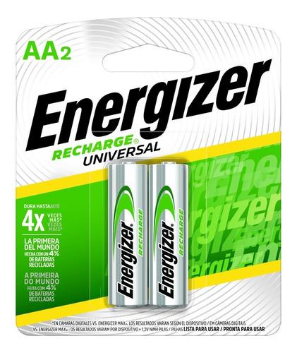 Imagen 1 de 6 de Blister 2 Pilas Recargables Energizer Aa 2000mah 1000x Nh15 - Importadora Fotografica - Distribuidor Oficial Energizer
