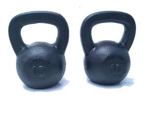 2 Pesa Rusas-kettlebell 22 Lbs C/u(10 Kg) Total 44 Lbs/20 Kg