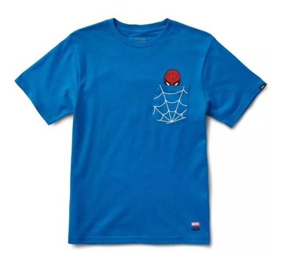 Playera Vans Marvel Spiderman Niño Mujer Azul Urban Beach