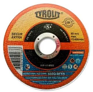 Disco De Corte 115x1,0x22 Secur Extra 50 Unidades Tyrolit