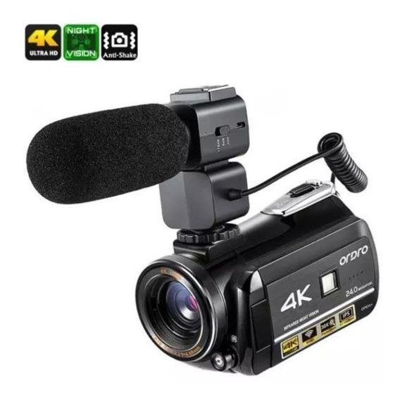 Filmadora Ordro Ac3 4k Wi-fi V. Not 30x Zoom Com Microfone