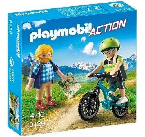 Playmobil Action 9129 Ciclista Y Excursionista
