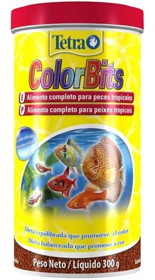 Ração Tetra Color Bits Tropical Granules 300g Pote Com Nf