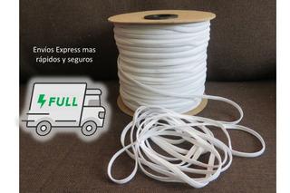 Elástico De 3 Ligas Rollo Blanco (ideal Cubrebocas)