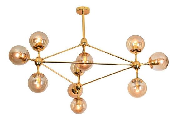 Pendente Orbe Dourado/âmbar 10e27 57,5x100cm Ll3000