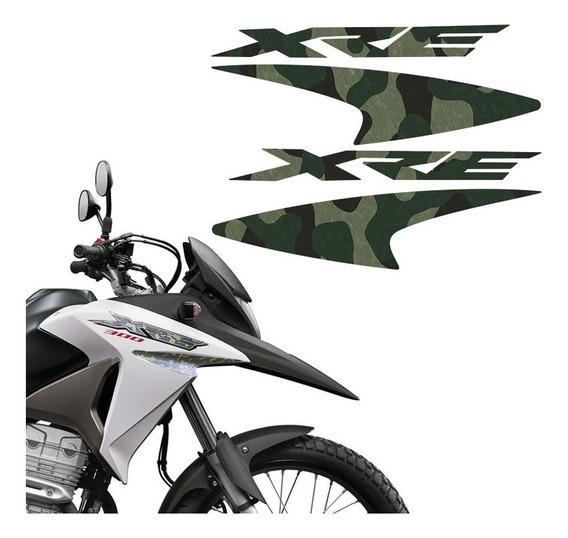 Kit Faixas Camuflado Moto Xre 300 2016 Adesivo Do Tanque