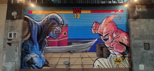 Imagen 1 de 10 de Graffiti Mural A Mano No Vinilo No Plotter