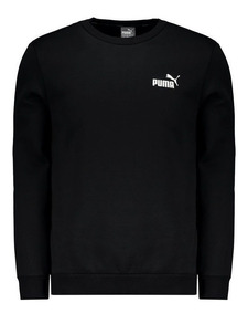 Moletom Puma Essentials Fleece Crew Preto