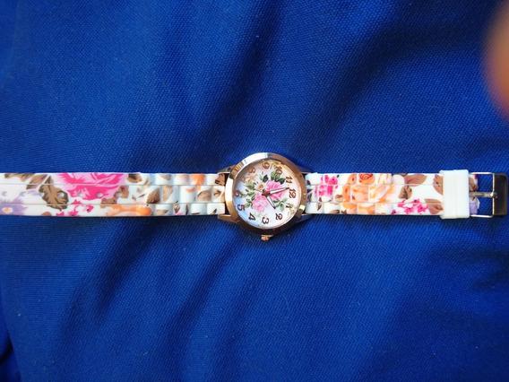 Relógio Feminino De Quartzo Pulseira Silicone Frete Grátis