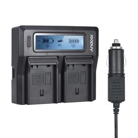 Andoer Pt -el15 Carregador Bateria Câmera Digital Dual Canal