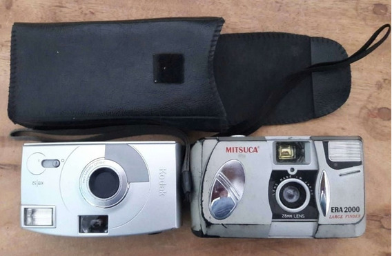 2 Antigas Câmeras Kodak E Mitsuca