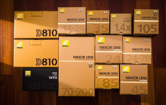 Nikon D810 36.3mp + Kit ( Bolsa + Tripé + 64gb Grip )