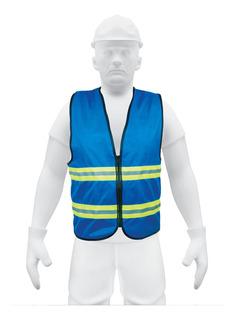 Chaleco De Seguridad Con Cierre Azul 15416