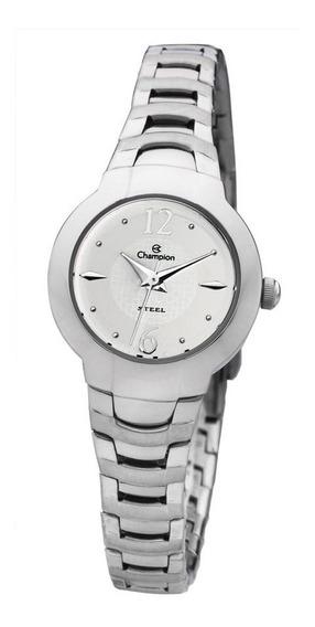 Relógio Champion Feminino Aço Branco Ca28556q