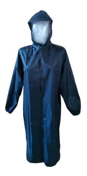 Impermeable, Tipo Poncho O Gabardina De Pvc Resistente, Azul