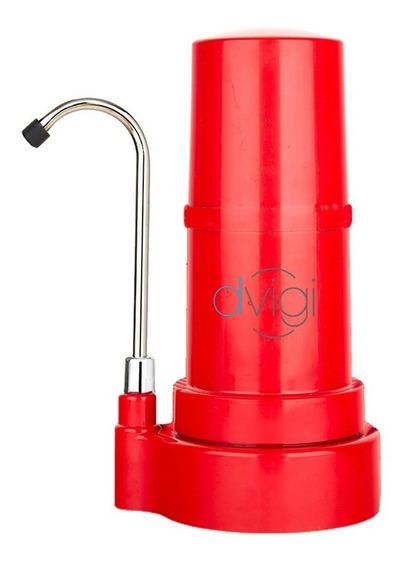 Purificador De Agua Sobre Mesada Dvigi Rojo Aprobado Anmat