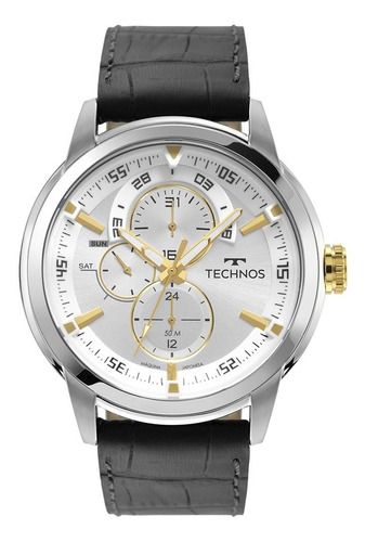 Relógio Technos Masculino Grandtech 6p57af/0k Couro
