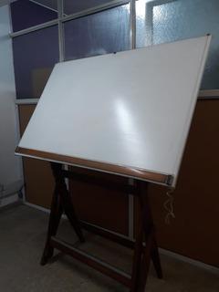 Mesa Tablero De Dibujo Técnico Arquitecto De Madera