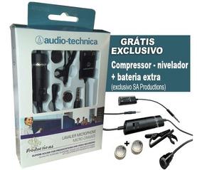 Microfone Lapela Atr 3350is Audio-technica Profissional Pc+