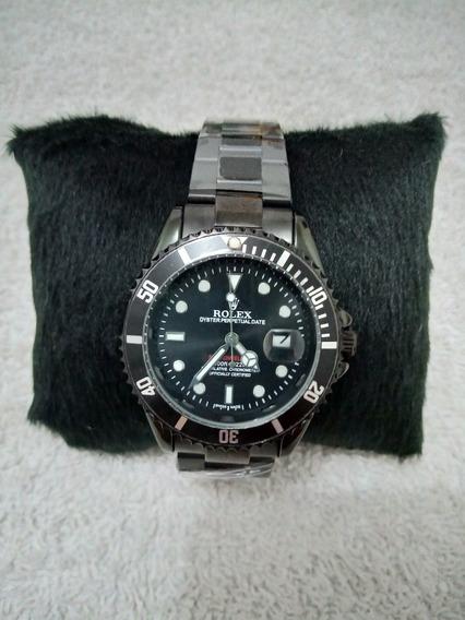 Relógio Masculino Rolex Submariner Preto A Prova Dágua